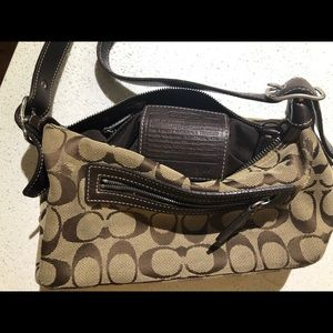 Brown Coach Shoulder Purse